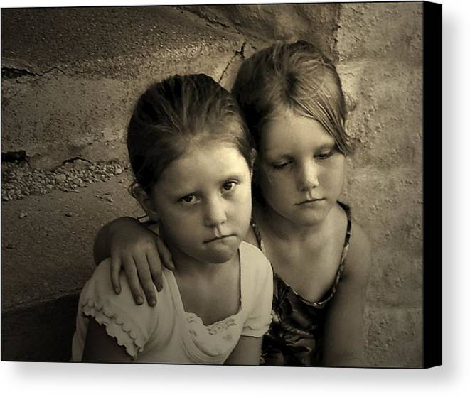 Sisters Canvas Print featuring the photograph The Sisters by Julie Dant