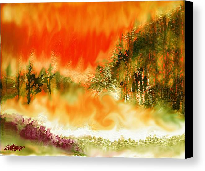 Timber Blaze Canvas Print featuring the mixed media Timber Blaze by Seth Weaver