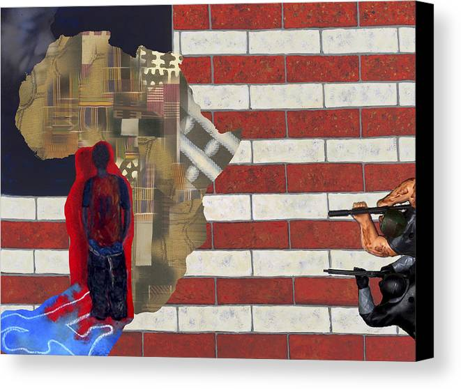 African American Canvas Print featuring the digital art In-sights by F Geoffrey Johnson