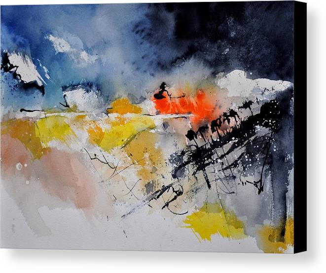 Abstract Canvas Print featuring the painting Watercolor 212132 by Pol Ledent