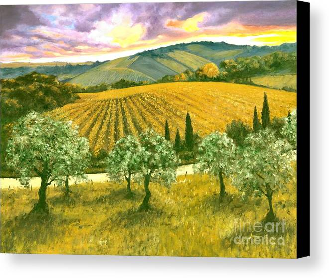 Italy Canvas Print featuring the painting After The Storm Orig. For Sale by Michael Swanson