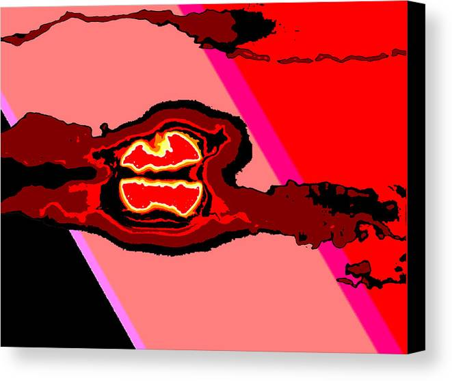 Digital Art Canvas Print featuring the digital art Bloody Red Sun Of Fantastic L.a. by Jimi Bush