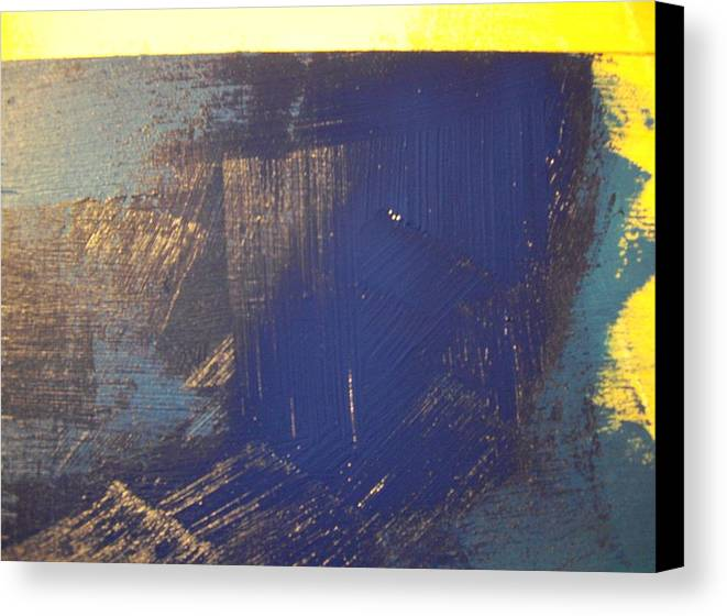 Paint Canvas Print featuring the painting Blue. by Robert Cunningham