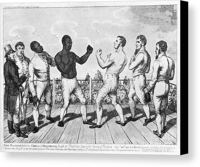 1811 Canvas Print featuring the photograph Boxing: Cribb V. Molineaux by Granger