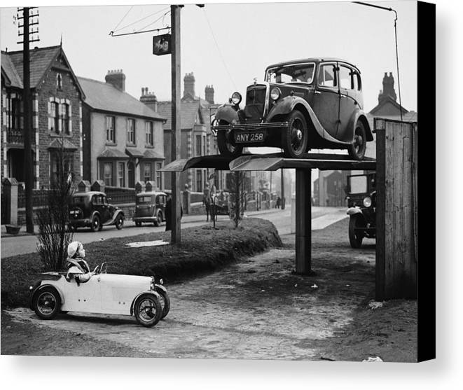 Child Canvas Print featuring the photograph Car Envy by Richards