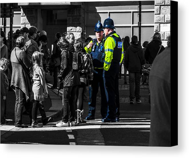 Police Canvas Print featuring the photograph Coppers by Paul Howarth