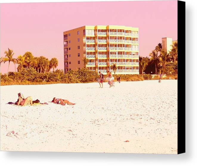 Landscape Canvas Print featuring the photograph Dreaming In Pink by Florene Welebny