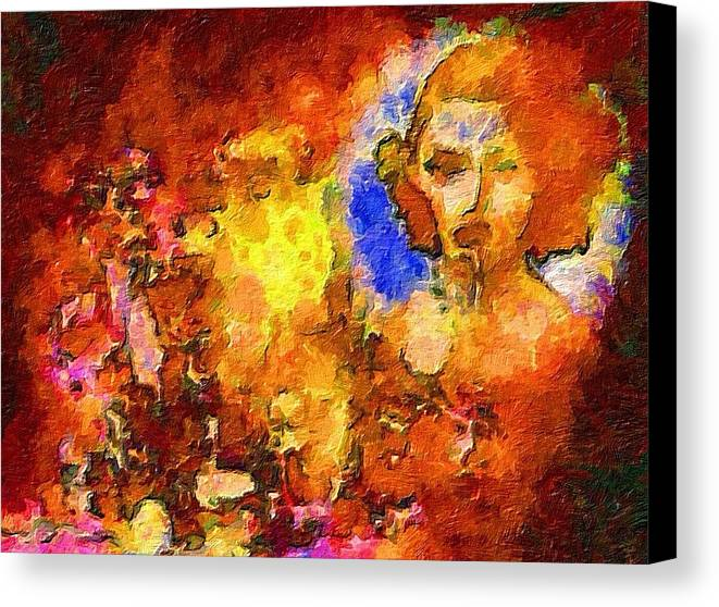 Impressionist Fashion Painting Canvas Print featuring the painting Fashion 67 by Jacques Silberstein