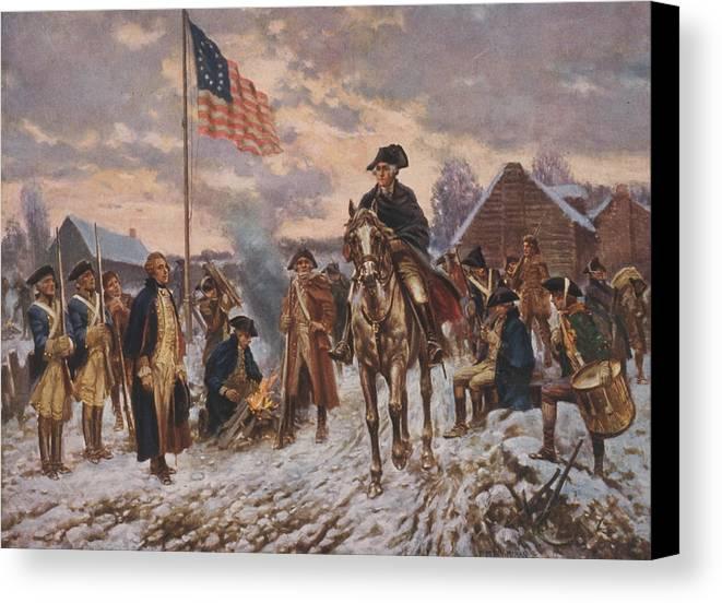 George Washington Canvas Print featuring the digital art George Washington At Valley Forge by Steve Straub