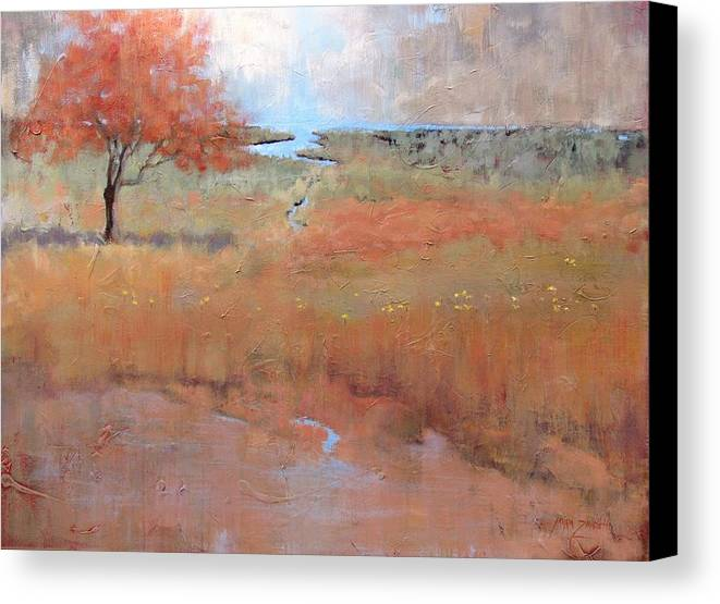 Landscape Canvas Print featuring the painting Imagine by Laura Lee Zanghetti