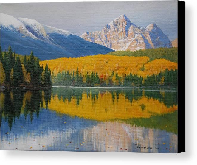 Jake Vandenbrink Canvas Print featuring the painting In The Stillness by Jake Vandenbrink