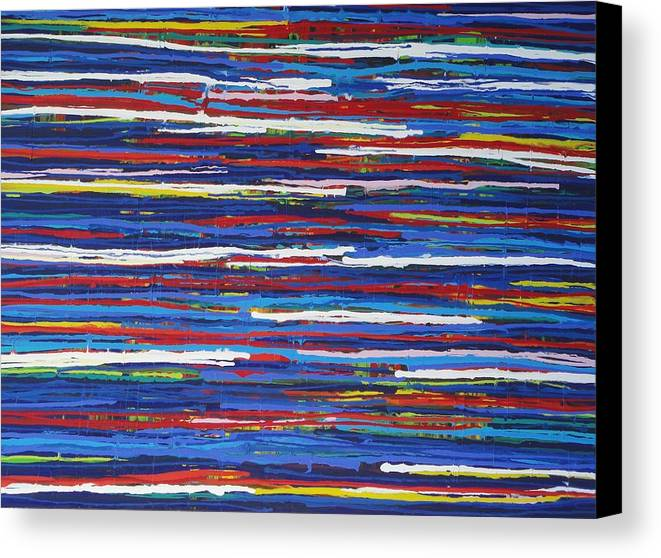 Abstract Canvas Print featuring the painting Jelly Snakes 4 Resin by Elizabeth Langreiter