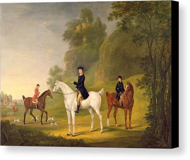 Xyc308406 Canvas Print featuring the photograph Lord Bulkeley And His Harriers by Francis Sartorius