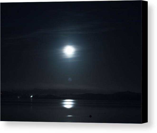 Moon Canvas Print featuring the photograph Moonshine by Christopher Mercer