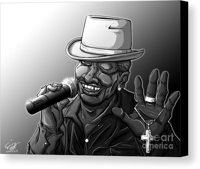 Tuan Canvas Print featuring the drawing Old School Brother by Tuan HollaBack