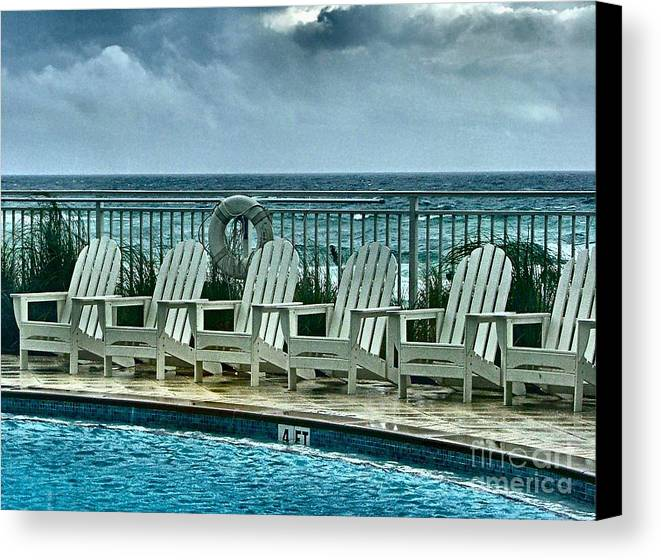Gulf Of Mexico Canvas Print featuring the photograph Poolside With A View by Julie Dant