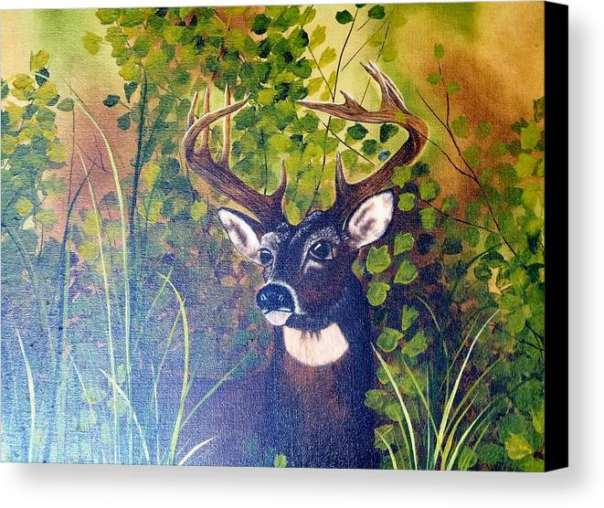 Wildlife Canvas Print featuring the painting Pride by Mary Matherne