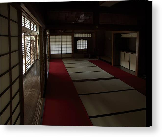 Zen Canvas Print featuring the photograph Quietude Of Zen Meditation Room - Kyoto Japan by Daniel Hagerman