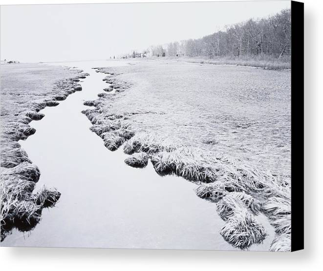 Horizontal Canvas Print featuring the photograph River Near Forest by Allan Montaine