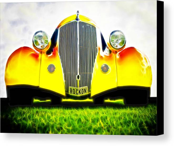 Ford Hot Rod Canvas Print featuring the photograph Rockon Rod by Phil 'motography' Clark