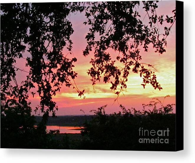 Sunset Canvas Print featuring the photograph Sunset Over Canyon Lake by Randi Shenkman