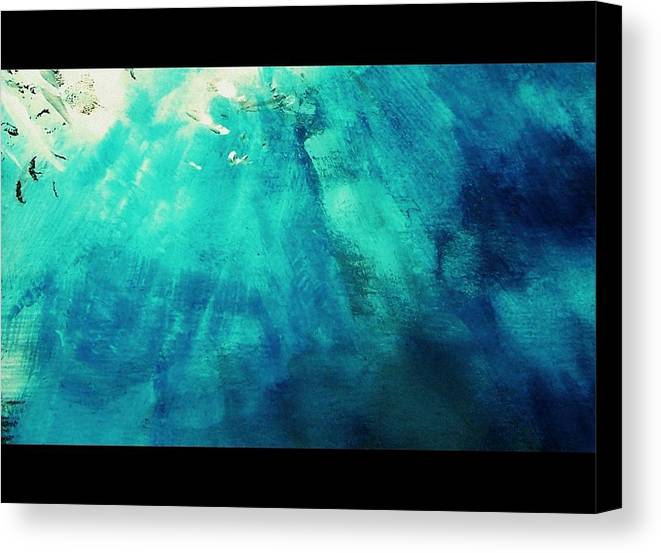Canvas Print featuring the painting Textle Spa 22 by Wendy Wiese