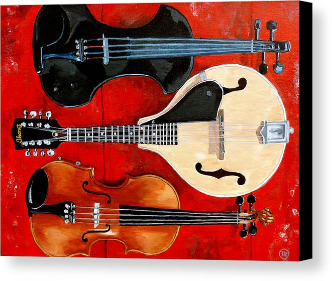 Violin Canvas Print featuring the painting The Boys by Tom Roderick