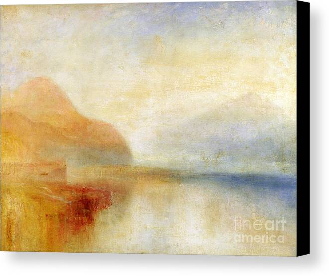 Inverary Canvas Print featuring the painting Inverary Pier - Loch Fyne - Morning by Joseph Mallord William Turner