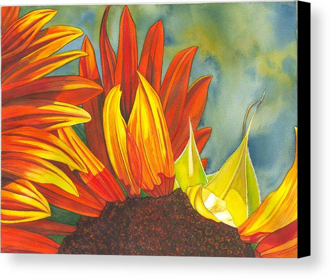 Sunflower Canvas Print featuring the painting Ray by Catherine G McElroy