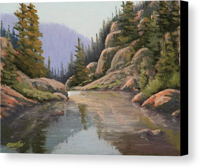 Landscape Canvas Print featuring the painting 090907-68  Almost There by Kenneth Shanika