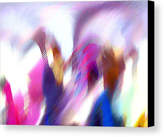 Digital Media Canvas Print featuring the painting Color Dance by Anil Nene