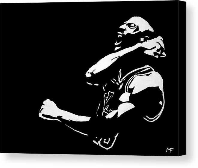 Michael Jordan Canvas Print featuring the painting Greatness by Matthew Formeller