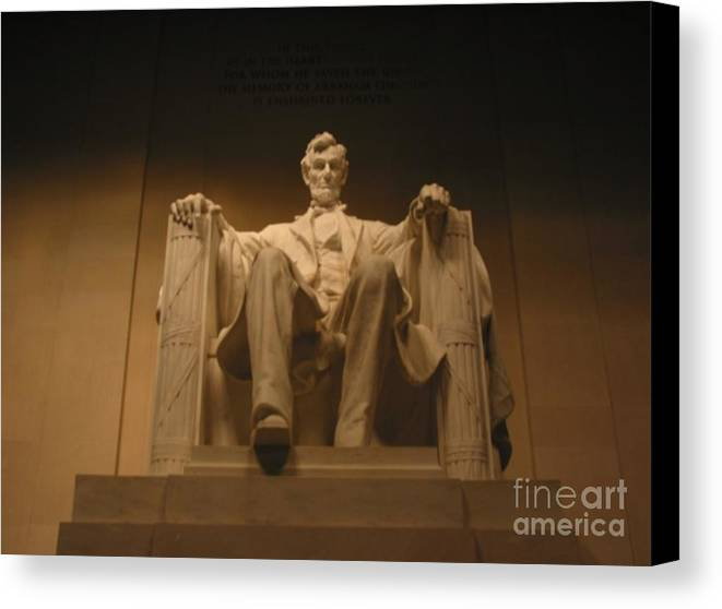 Abraham Lincoln Canvas Print featuring the painting Lincoln Memorial by Brian McDunn