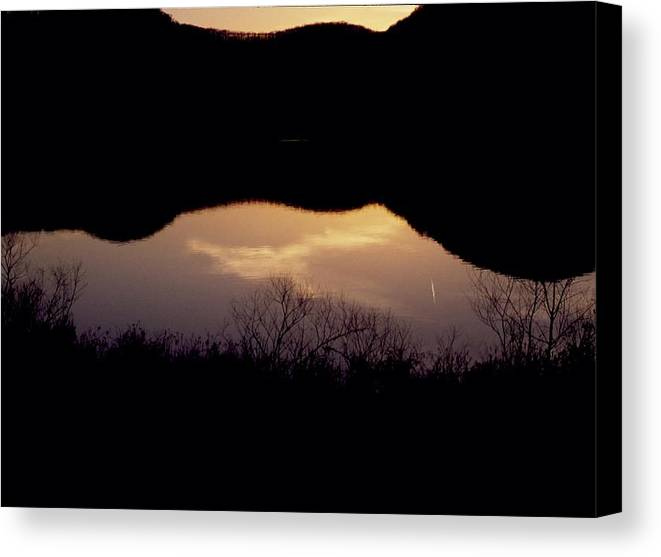 Landscape Canvas Print featuring the photograph Owsley Fork Lake At Sunset by George Ferrell
