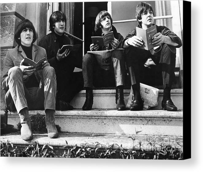 1965 Canvas Print featuring the photograph The Beatles, 1965 by Granger