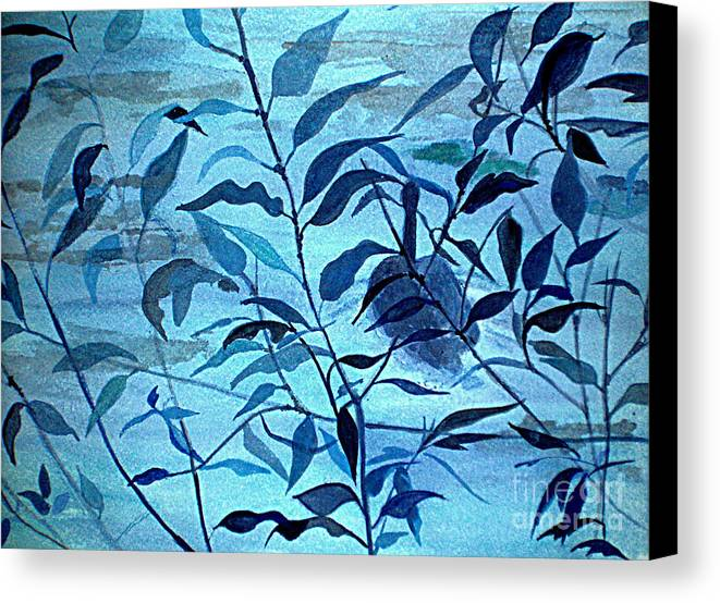 Blue Canvas Print featuring the painting Blue On Blue by Vivian Mosley