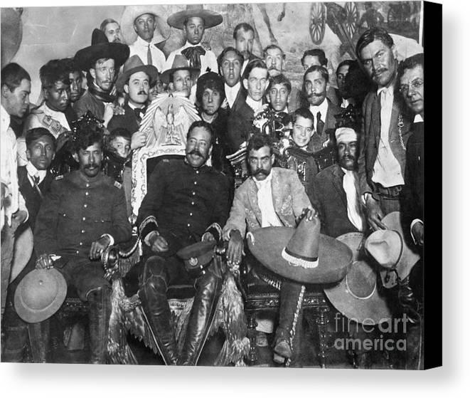 1914 Canvas Print featuring the photograph Francisco Pancho Villa by Granger