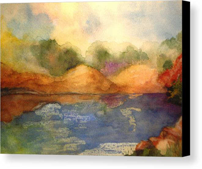Landscape Canvas Print featuring the painting Whimsy by Vivian Mosley