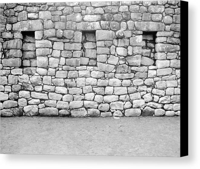 Machu Picchu Canvas Print featuring the photograph 3 Windows by Marcus Best