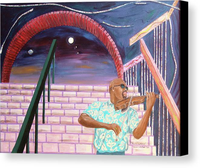 Kevin Callahan Canvas Print featuring the painting A Love Supreme by Kevin Callahan