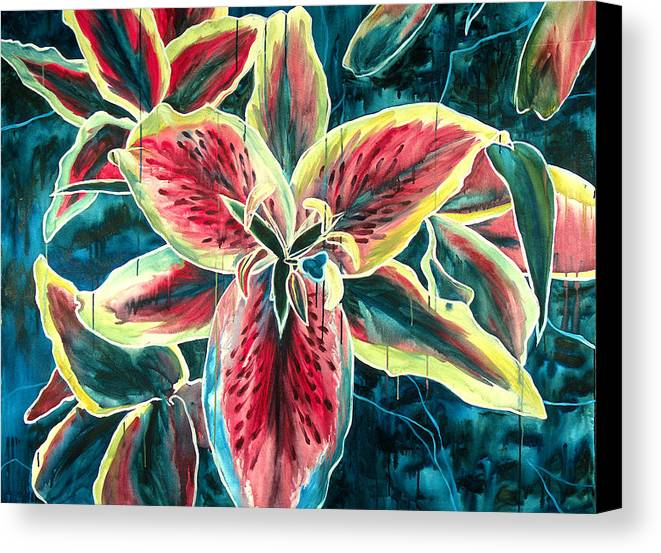 Floral Painting Canvas Print featuring the painting A New Day by Jennifer McDuffie