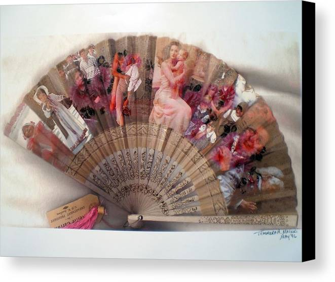 Fan Canvas Print featuring the digital art A Womans World by Tammera Malicki-Wong