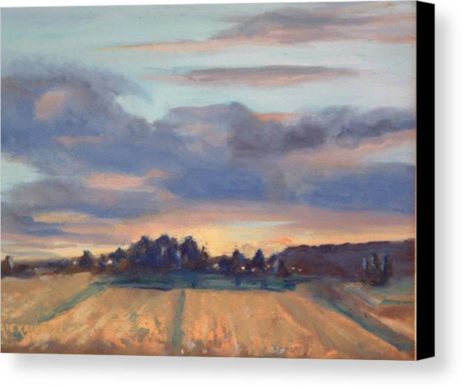 Landscape Canvas Print featuring the painting After The Storm by Bryan Alexander