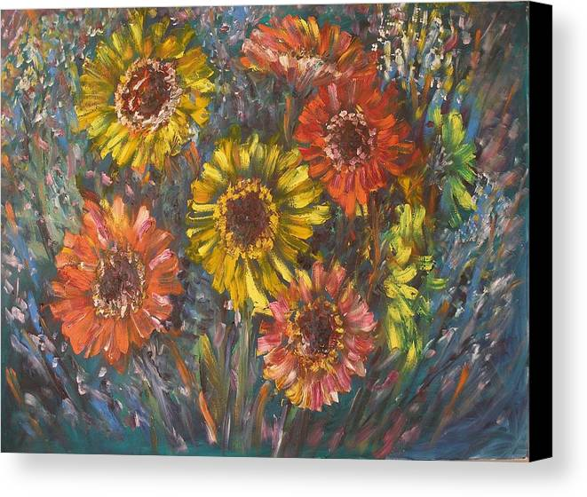 Daisy Canvas Print featuring the painting Applause by Wendy Chua