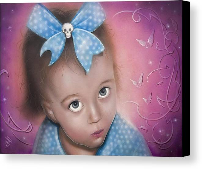 Baby Canvas Print featuring the painting baby Rain 2 by Joshua South