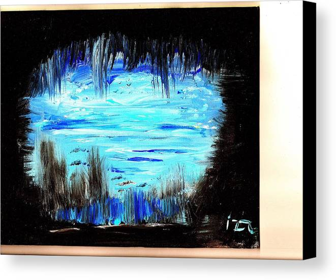 Cave Canvas Print featuring the painting Be On The Cave by Ross Isgar