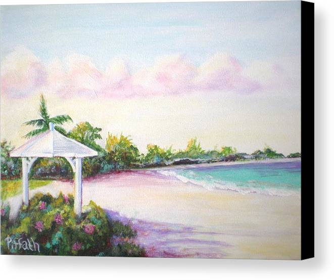 Beach Canvas Print featuring the painting Calabash Bay by Patricia Piffath