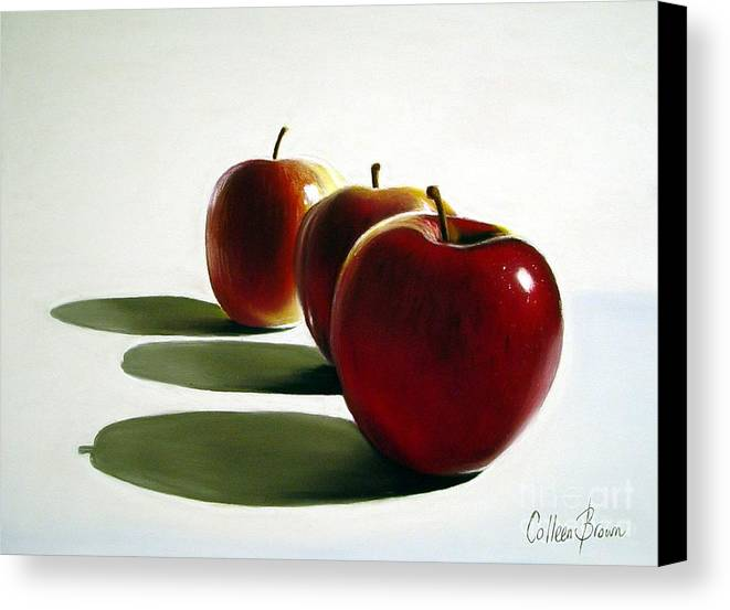 Still Life Canvas Print featuring the painting Candy Apple Red by Colleen Brown