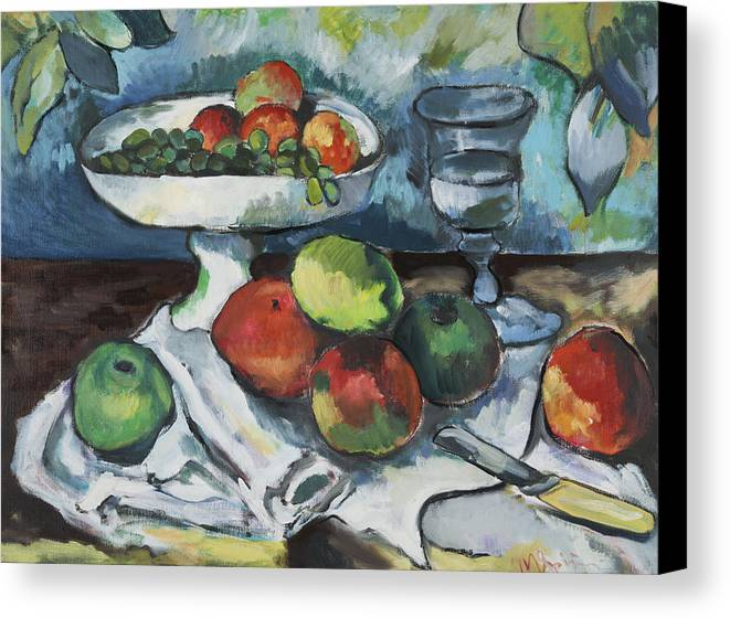 Canvas Print featuring the painting Cezanne by Michelle Spiziri