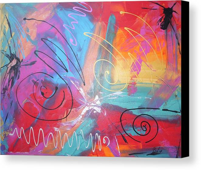 Abstract Canvas Print featuring the painting Chronicles Of Color by Joey Santiago
